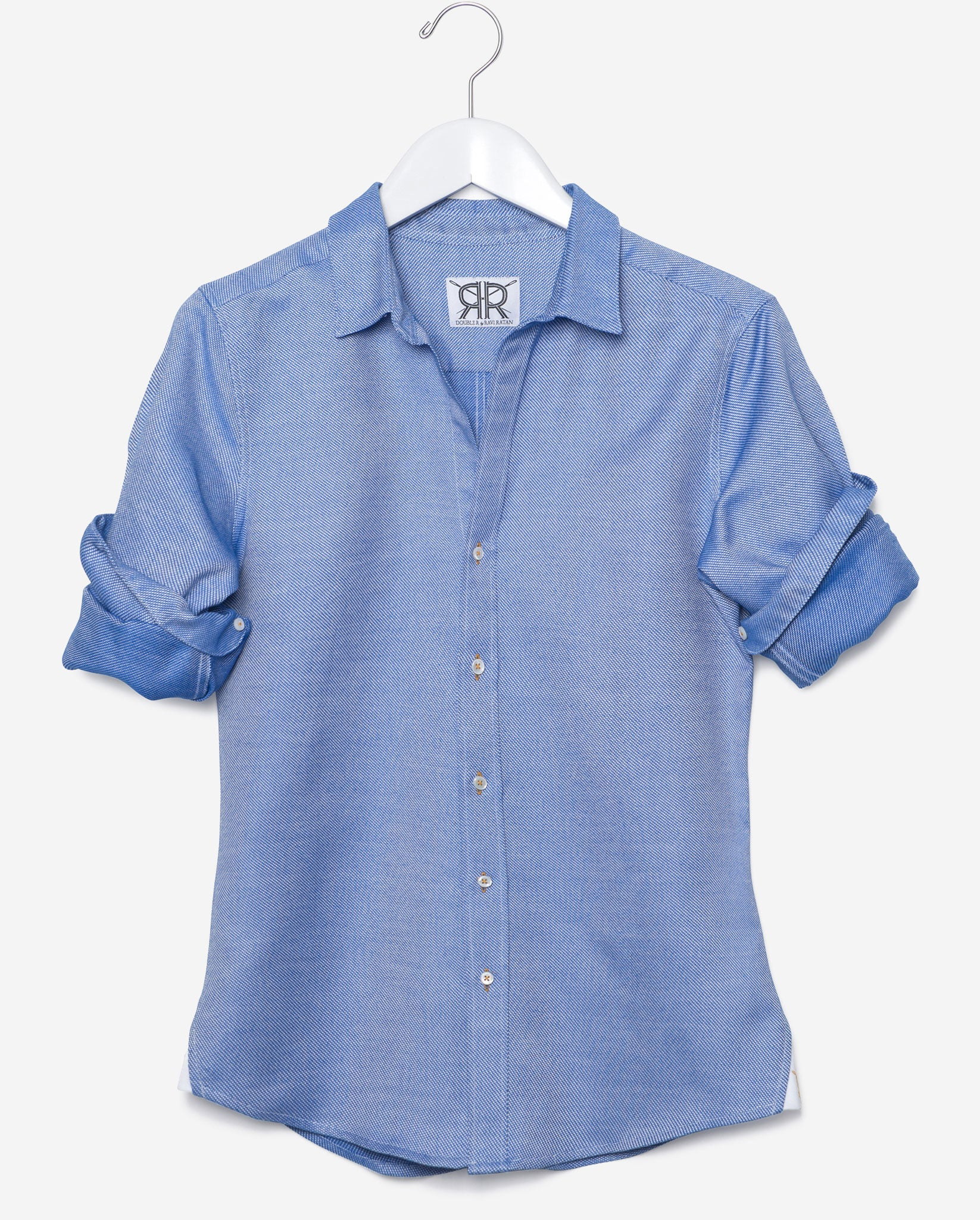 Tailored Shirt - Royal Blue Oxford Women's Button Down by Double R ...