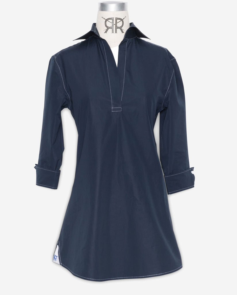 Tunic - Navy with White Stitch