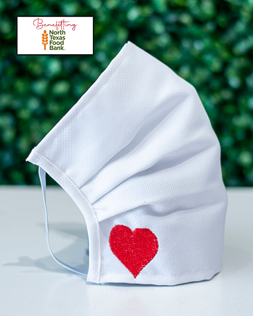 Embroidered Heart Cotton Mask