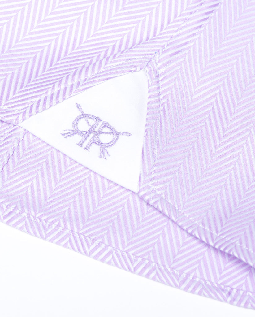 Tailored - Lavender Herringbone