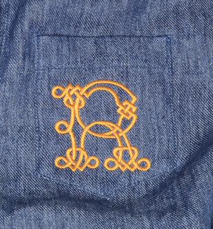 Large Pocket Monogramming