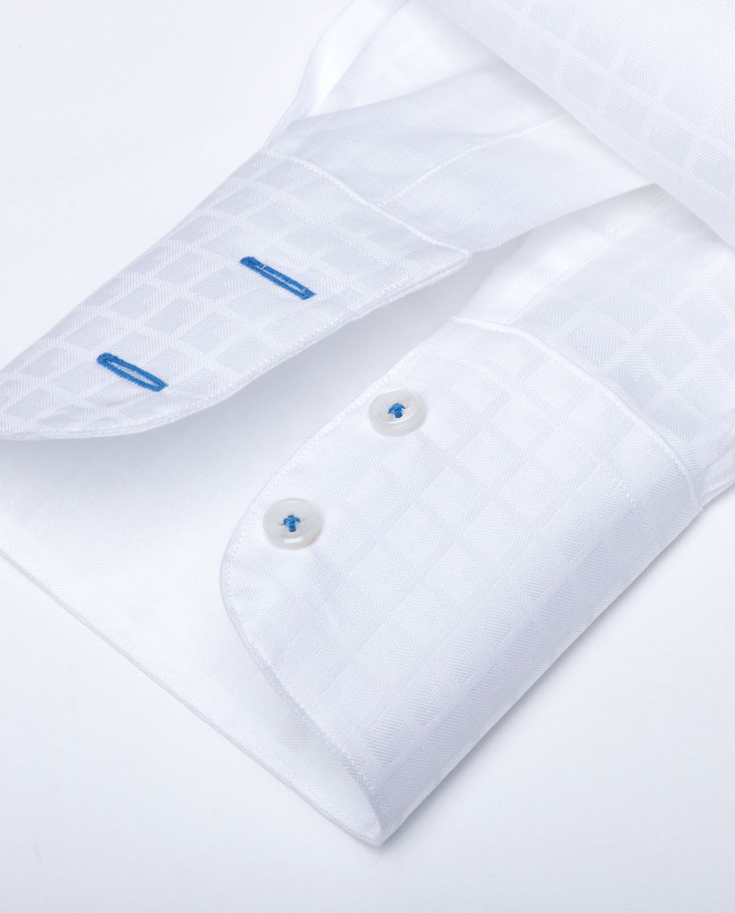 Tailored - White on White Check