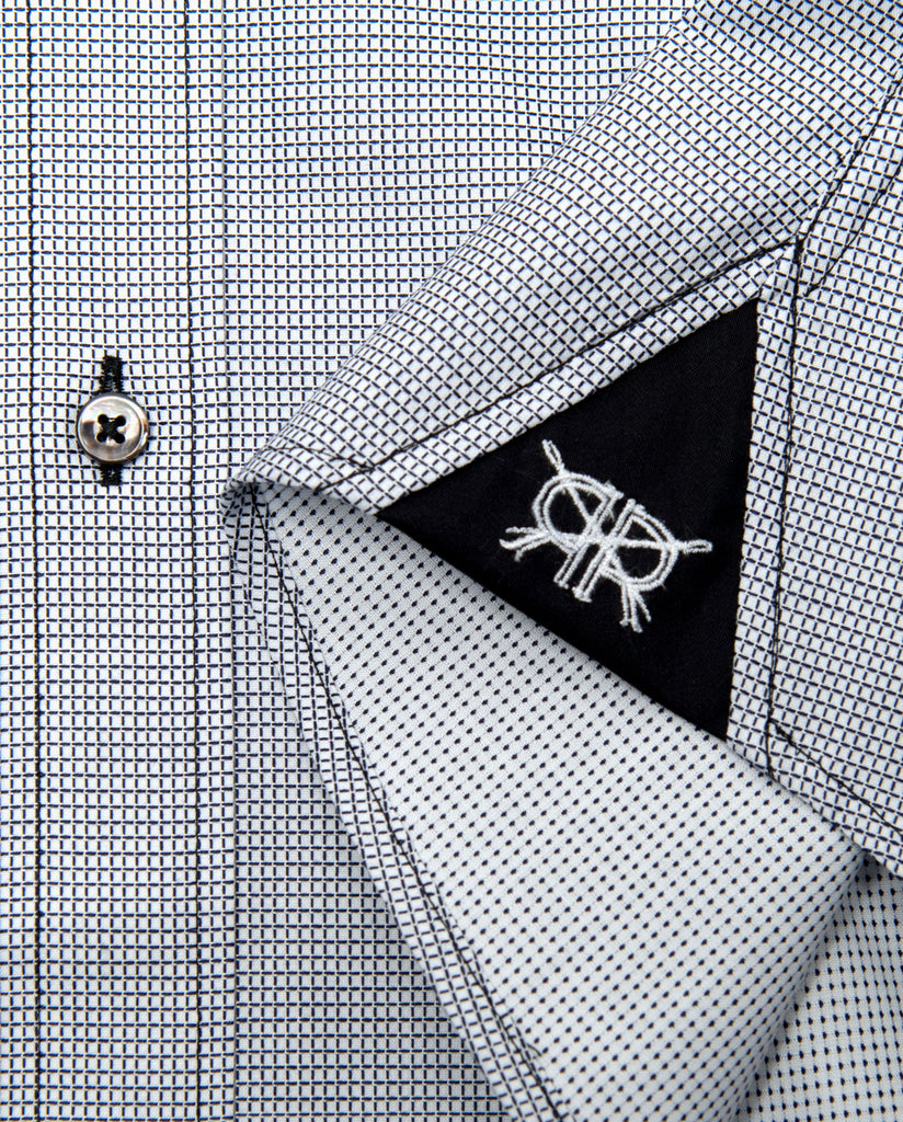 Tailored - White with Black Fine Check