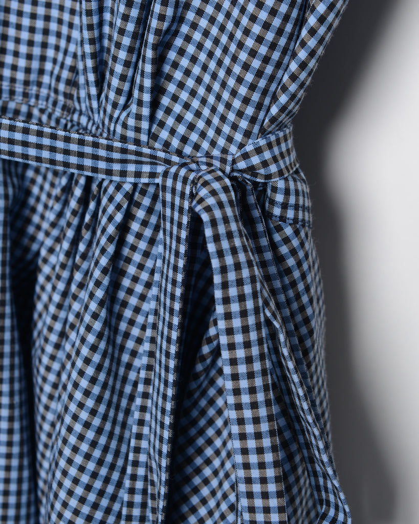 Sabrina - Black and Blue Gingham