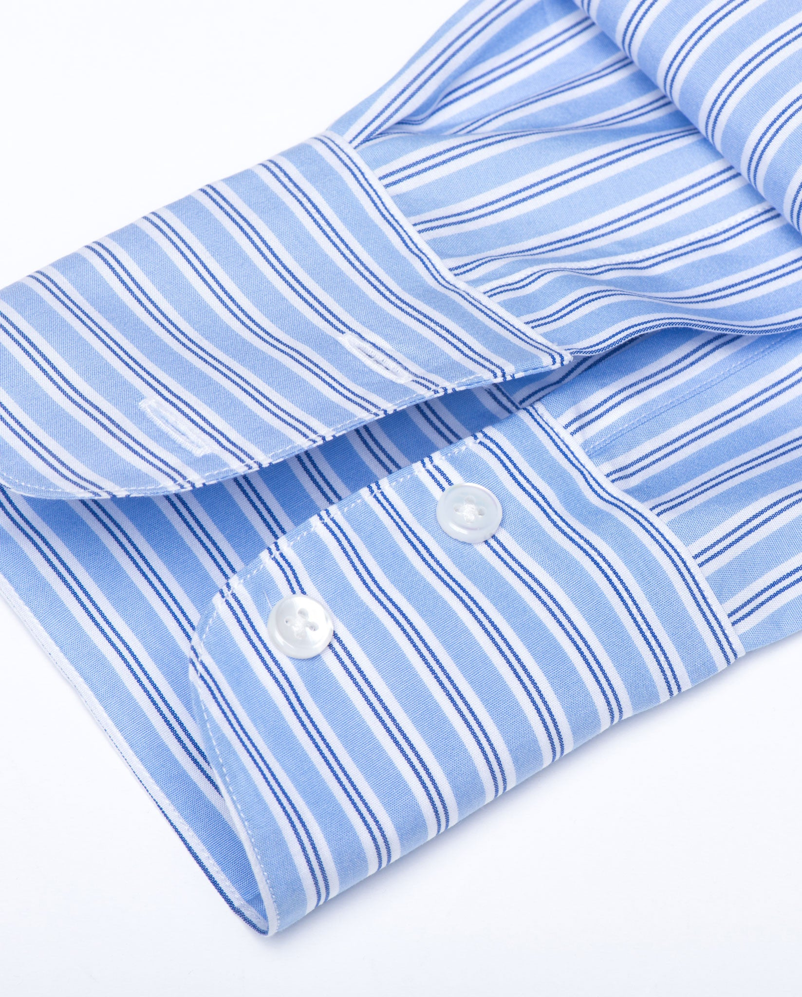 Tailored Shirt - Blue Bankers Stripe Women's Button Down by Double ...