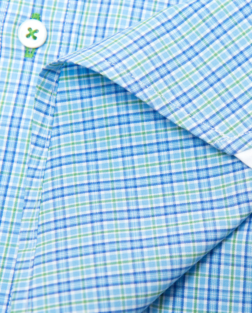 Tailored - Blue and Lime Plaid