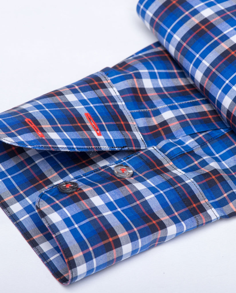 Tailored - Blue Plaid