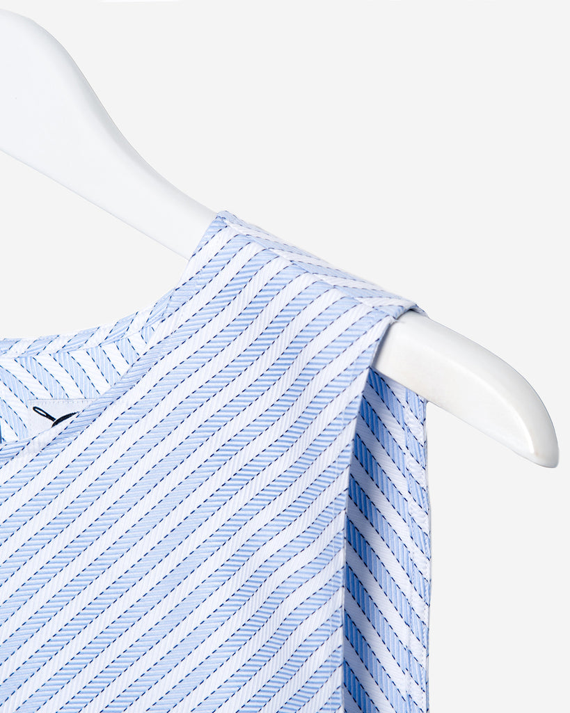 Sleeveless - Blue Diagonal Stripe