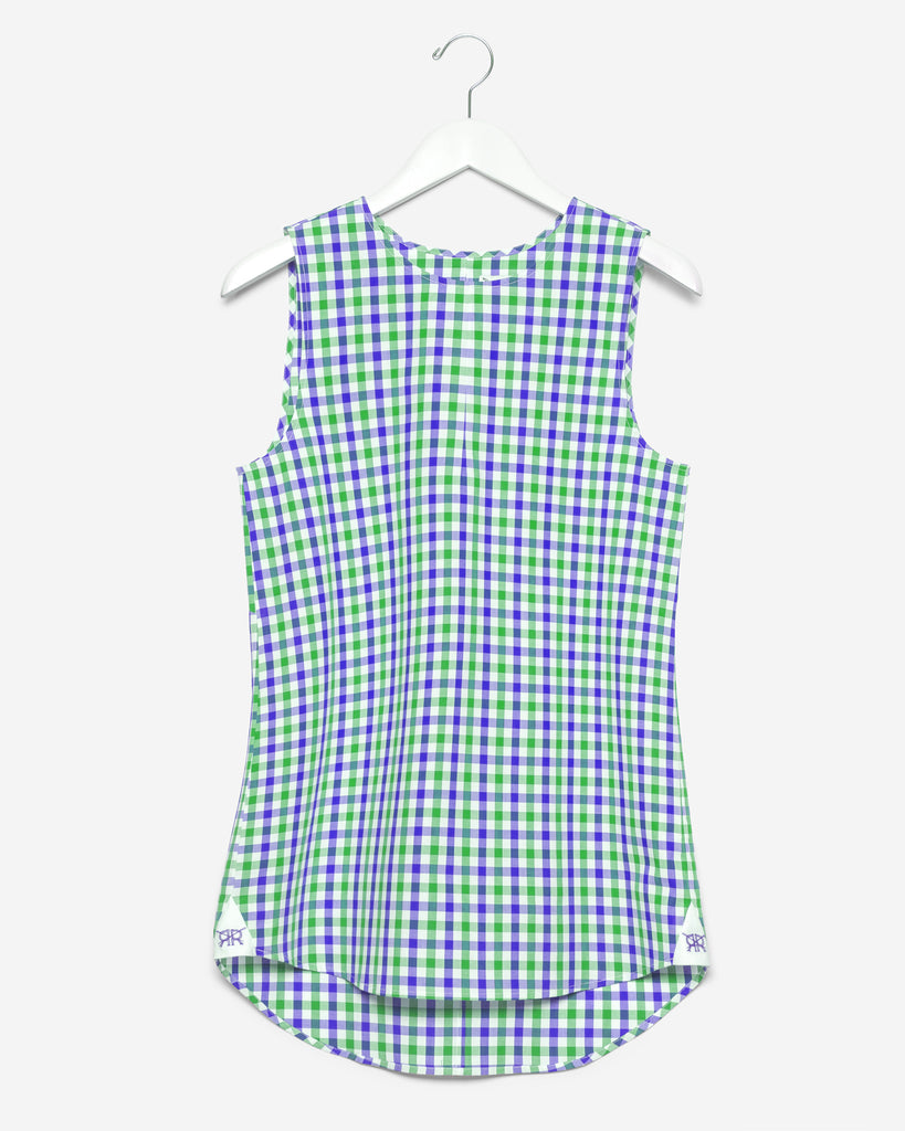 Sleeveless - Green and Blue Gingham