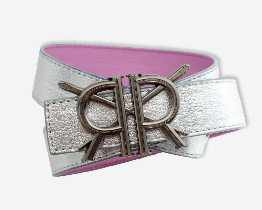 Orchid and Metallic Silver with Gunmetal Buckle