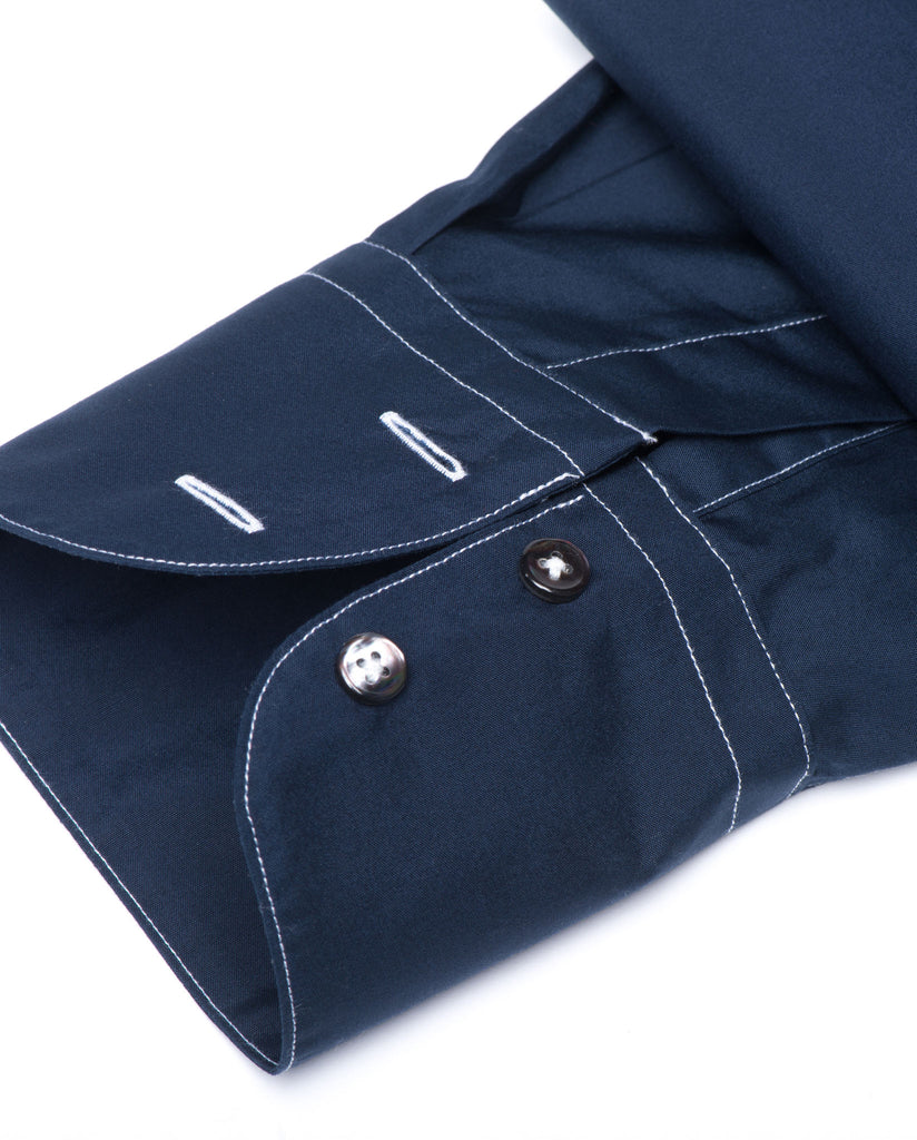 Tailored - Navy with White Stitch