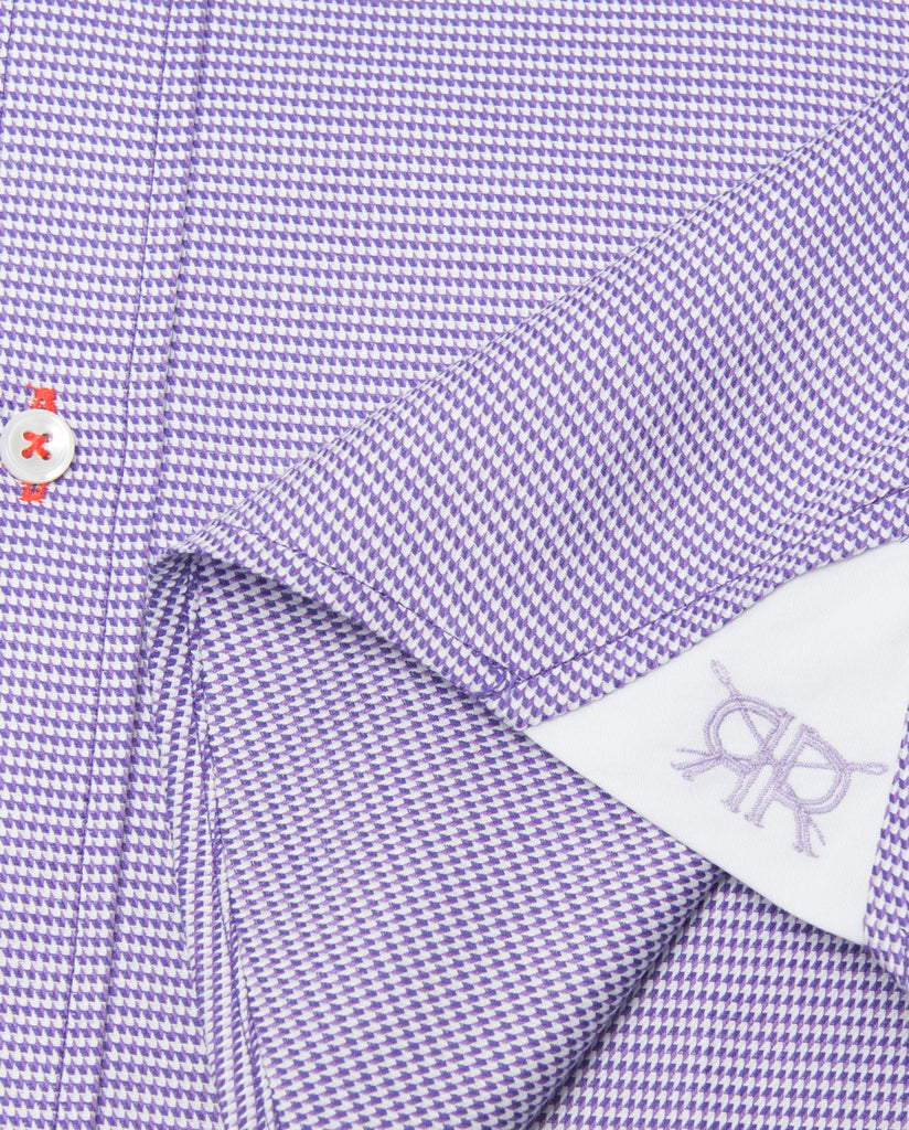 Tailored - Purple Houndstooth