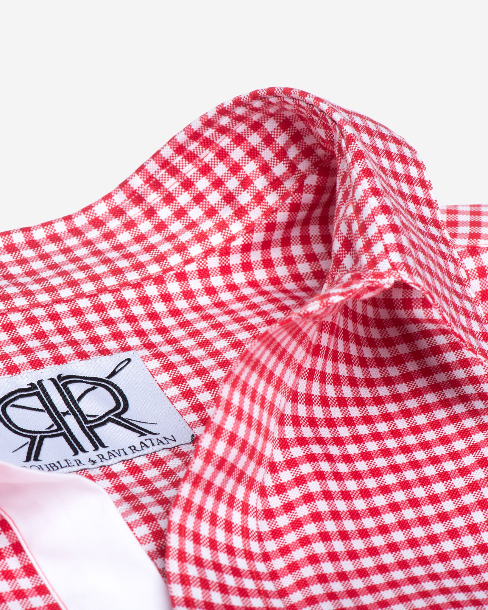Tailored shirt red white gingham check women 39 s button up for Pink gingham shirt ladies