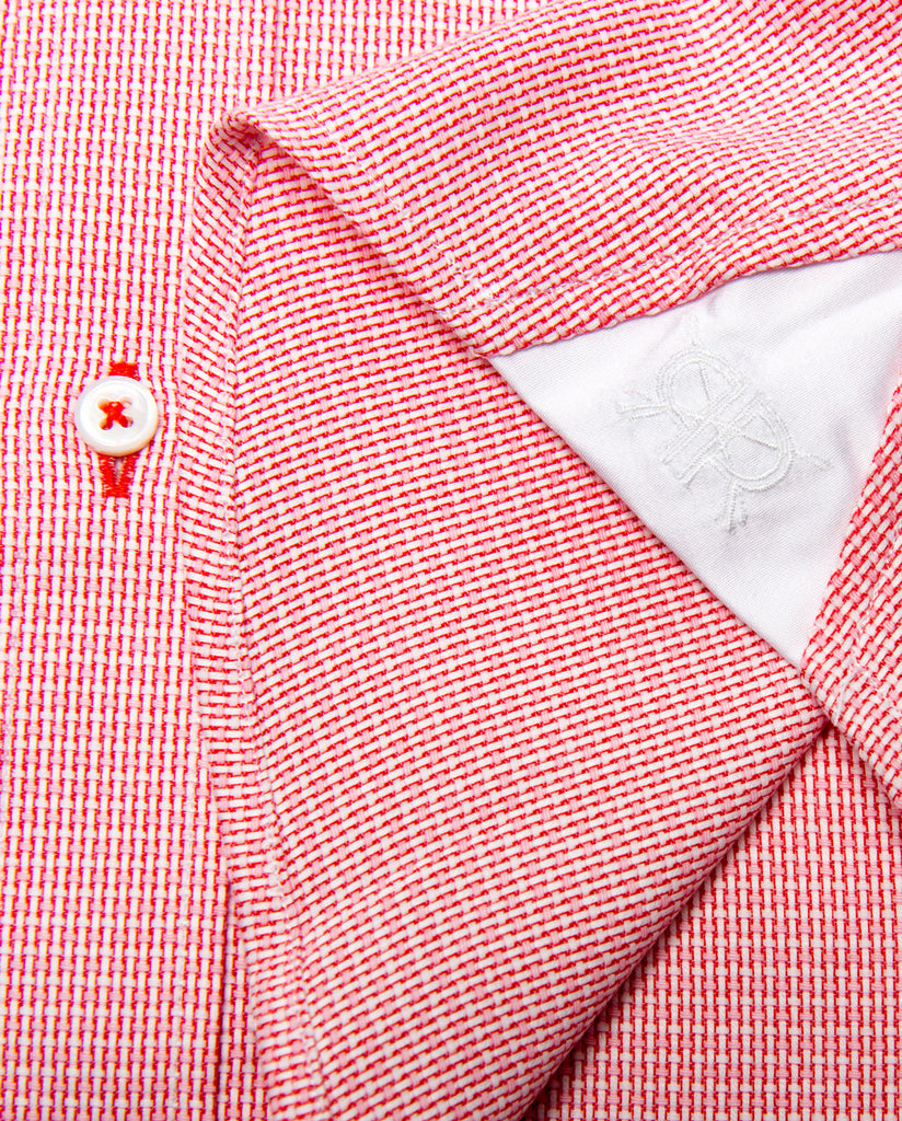 Tailored - Red Dobby Check