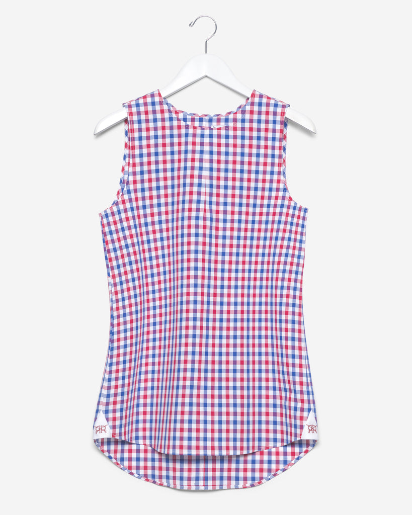 Sleeveless - Red and Blue Gingham