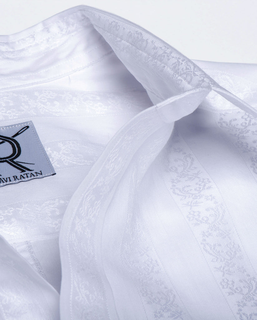 Tailored - White Jacquard