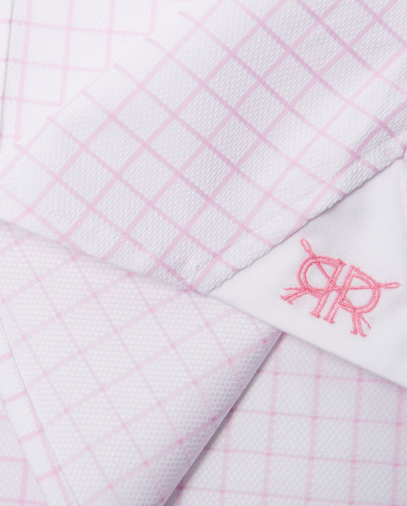 Tailored - White with Pink Check