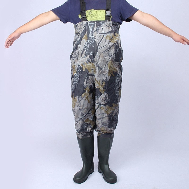 Outdoor Fishing Waders Waterproof Breathable Chest Waders Anti-wear Boots Camouflage Hunting Farming pants Fishing Jumpsuit W104