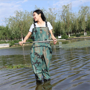 37-45 Men Women Waterproof Fishing Boots Wading Anti-wear Non-slip Pants Farm Garden Working Overalls Chest Clothes Waders Shoes