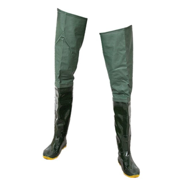 Waterproof Fishing Boots Waders Wading Boots Over Knee Hip Soft Sole Breathable Upstream River Fishing Hunting Farming Boots