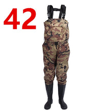 Load image into Gallery viewer, Outdoor Camouflage Hunting Farming pants Euro 38-47 Men Waterproof Anti-wear Waders Pants Boots Fishing Suspender Jumpsuit A9252