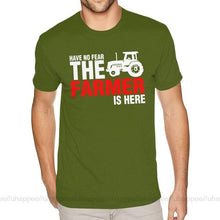 Load image into Gallery viewer, Lovely Have No Fear The Farmer Is Here Shirts for Men Graphic Custom Short Sleeves Ultra Cotton O-neck Tees Shirt