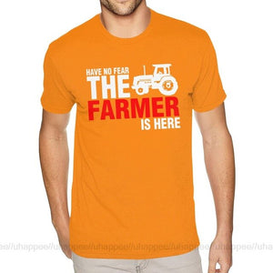 Lovely Have No Fear The Farmer Is Here Shirts for Men Graphic Custom Short Sleeves Ultra Cotton O-neck Tees Shirt