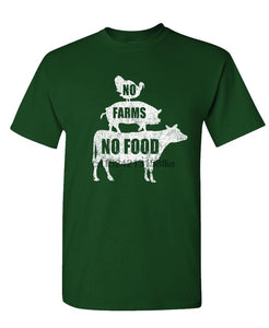 No Farms No Food - Farmer Homestead Crops - Mens Cotton T-Shirt