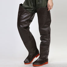 Load image into Gallery viewer, Eu 38-44 Waterproof Anti Wear Fishing Pants With Non-slip Rain Boots Men Women Outdoor Farmer Fisher Men Hunting Wading Trousers