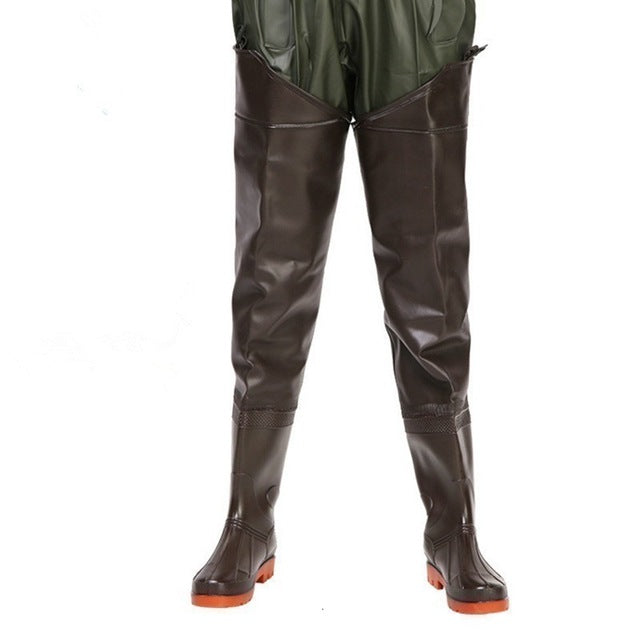 Eu 38-44 Waterproof Anti Wear Fishing Pants With Non-slip Rain Boots Men Women Outdoor Farmer Fisher Men Hunting Wading Trousers