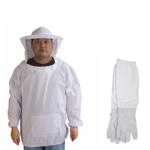 Protective Beekeeping Gloves Safe Beekeeping Suit Bite Protection Unisex Defend Bee Keeping Gloves Safety Clothing For Farmer