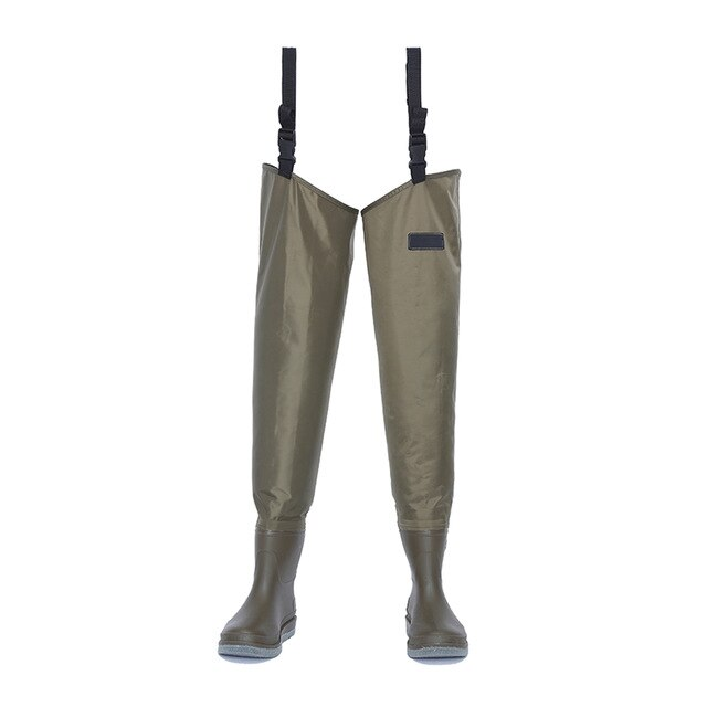 Waterproof Fly Fishing Waders Breathable Lightweight Stocking Foot Hip Thigh Upstream Farmer Fishing Hunting Pants Boot Unisex