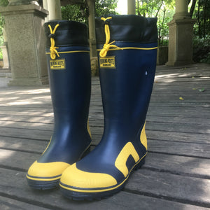 Quality Genuine Rubber Tall Boots Wading Waterproof Fishing Waders Men 45 46 Rain Water Shoes Garden Farm Snow Non Slip Wellies