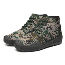 Load image into Gallery viewer, EU35-45 High-tops Antiskid And Wear-resistant Outdoor Camouflage Military Training Farm Bulding Hiking Sneakers Shoes Men Women
