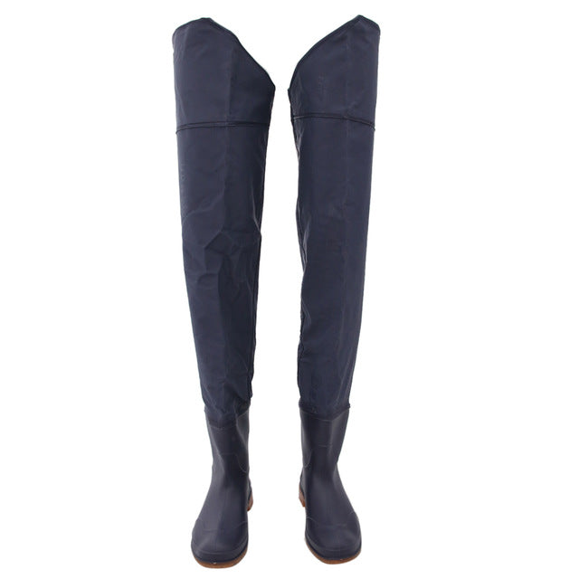 Waterproof Fishing Waders Over Knee Wading Boots Farming Farmer Pants Boots PVC Outdoor River Fly Fishing Shoes Hunting Tackles