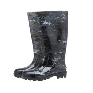Camouflage Rain Boots Thick Wear-Resistant Water Shoes Plus Velvet Rain Boots Site Rain Boots Farm Waterproof Rain Boots