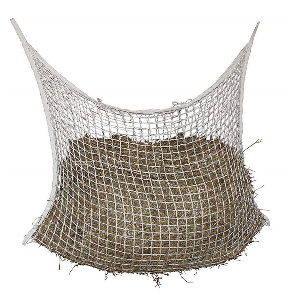Horse Feeding Large Capacity Mesh Net Farm Hanging Storage Wear Resistant Portable Hay Bag Braided Nylon Cattle Home Small Hole