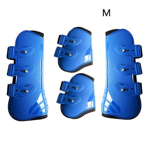 Brace Front Hind Horse Leg Boots Riding Protection Wrap Practical Adjustable Durable Outdoor Farm Guard Training PU Leather