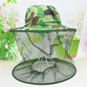 Head Mesh Hunting Outdoor Beekeeping Portable Anti Mosquito Hiking Insect Face Protection Garden Fishing Hat
