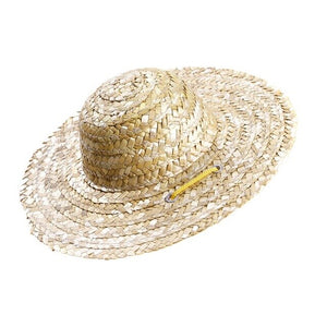 1pcs Pet Sun Hat Handcrafted Straw Woven Adjustable Pets Dog Puppy Caps Classic Solid Farmer Hat Pet Accessories