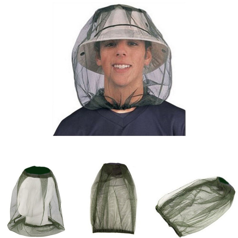 Mosquito head net bee and bug head shading net face protector fit for fishing camping hiking farming