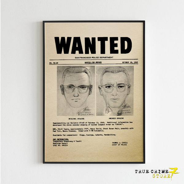 Zodiac Wanted Poster