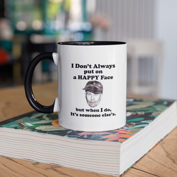 Ed Gein's Happy Face Quote Accent Mug