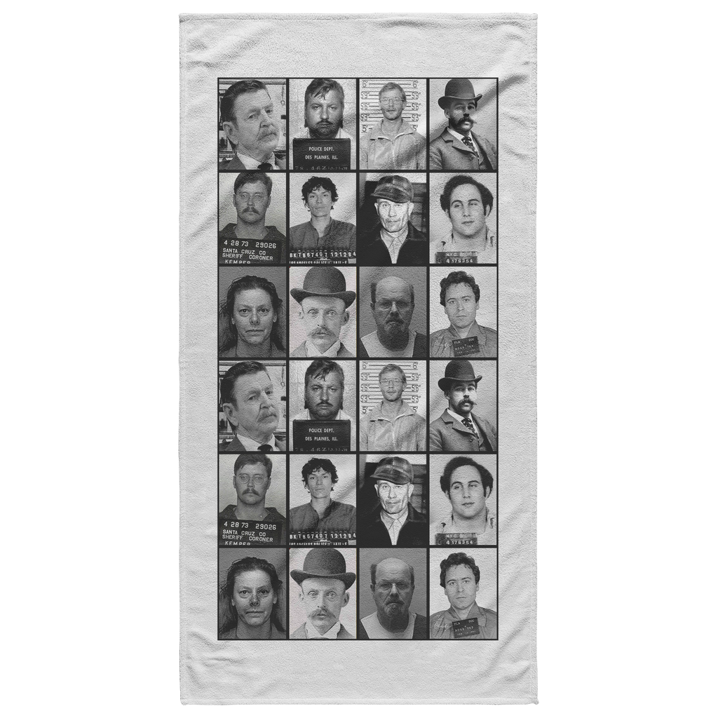 Serial Killer Mug Shots Beach Towel