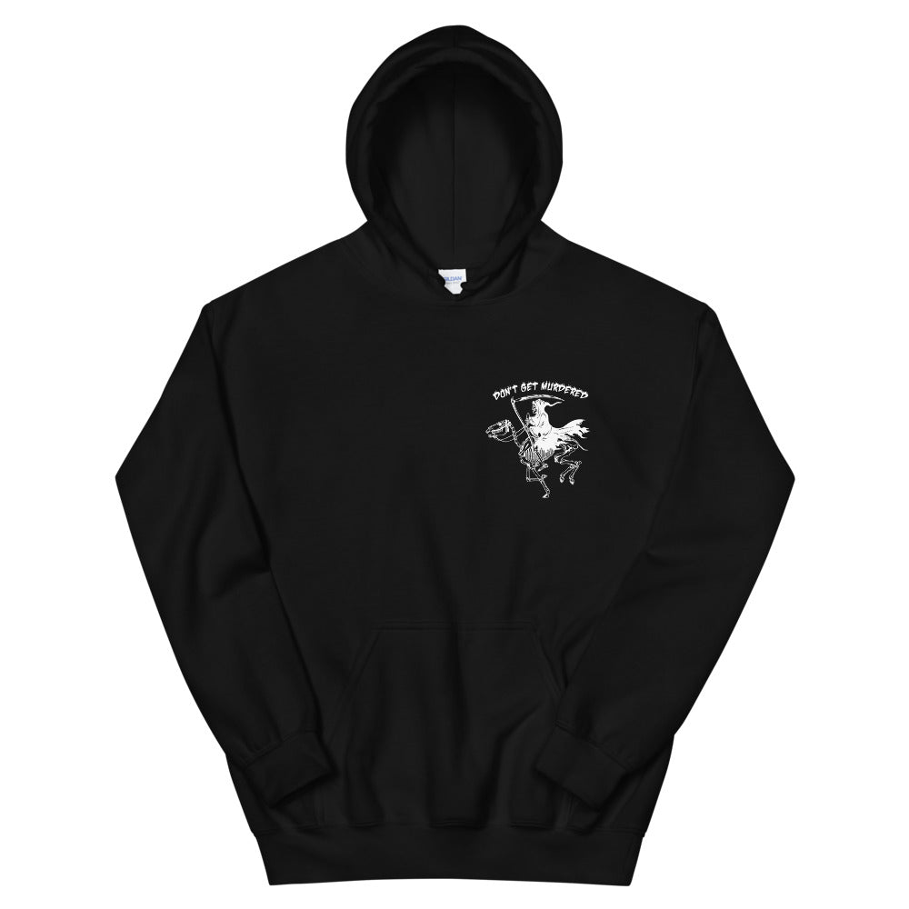 Don't Get Murdered, Grim Reaper Minimal Front& Back Hoodie