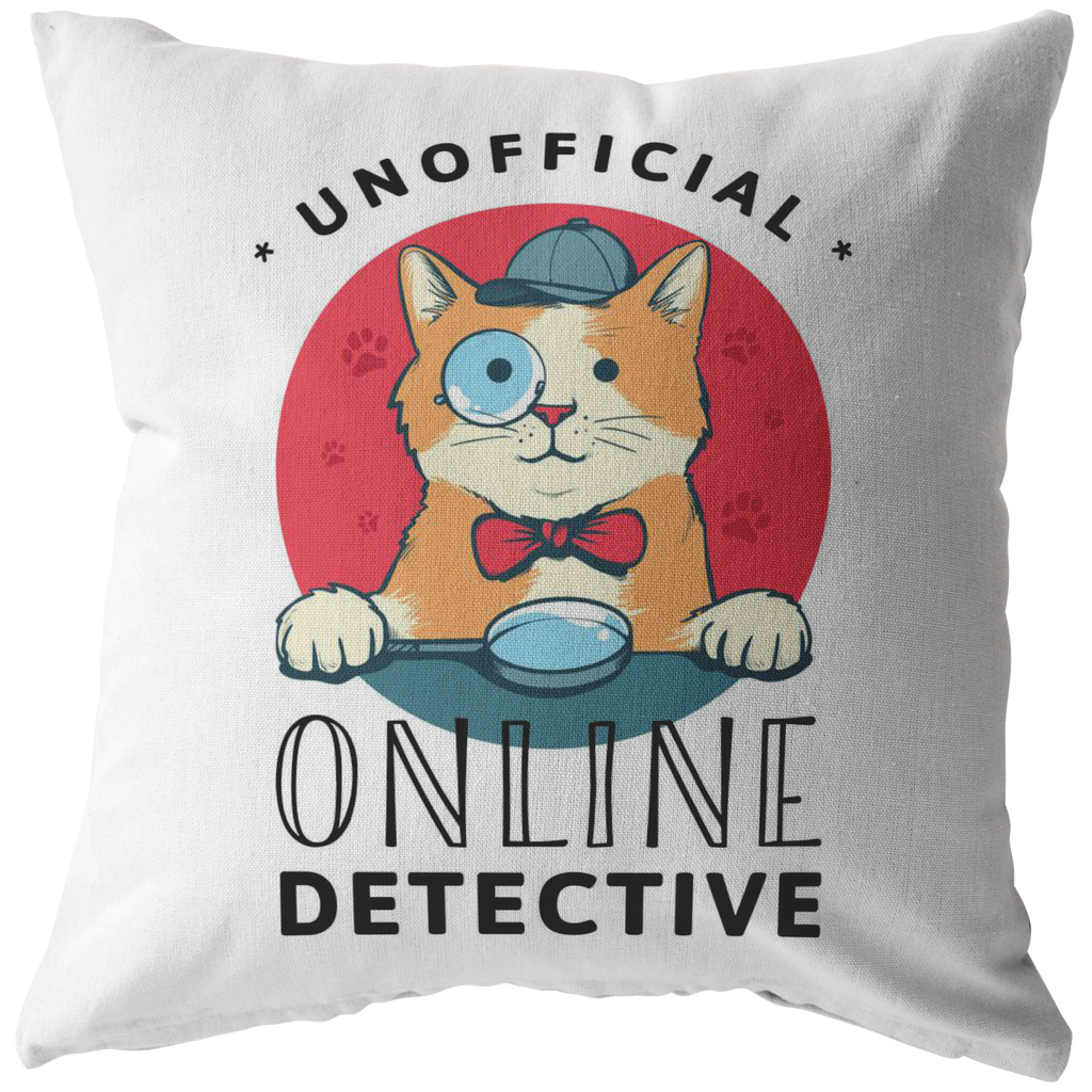 Unofficial Online Detective Pillow (CAT EDITION)