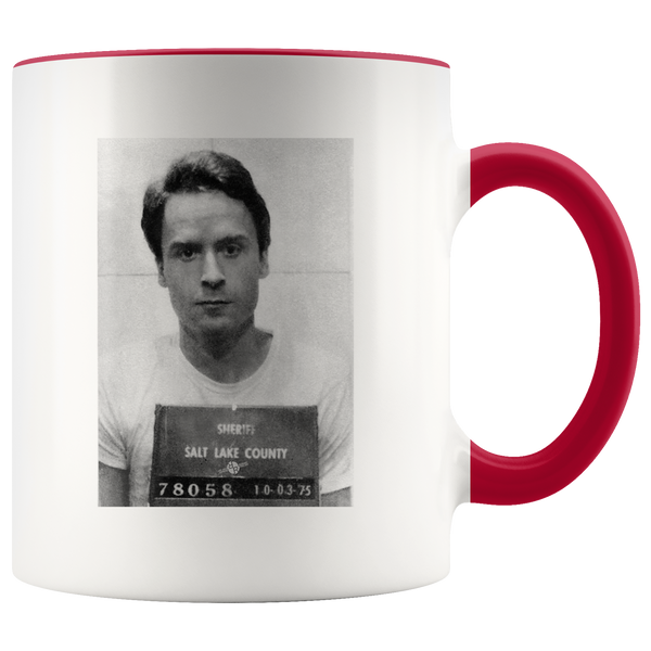 Ted Bundy Mugshot Accent Mug