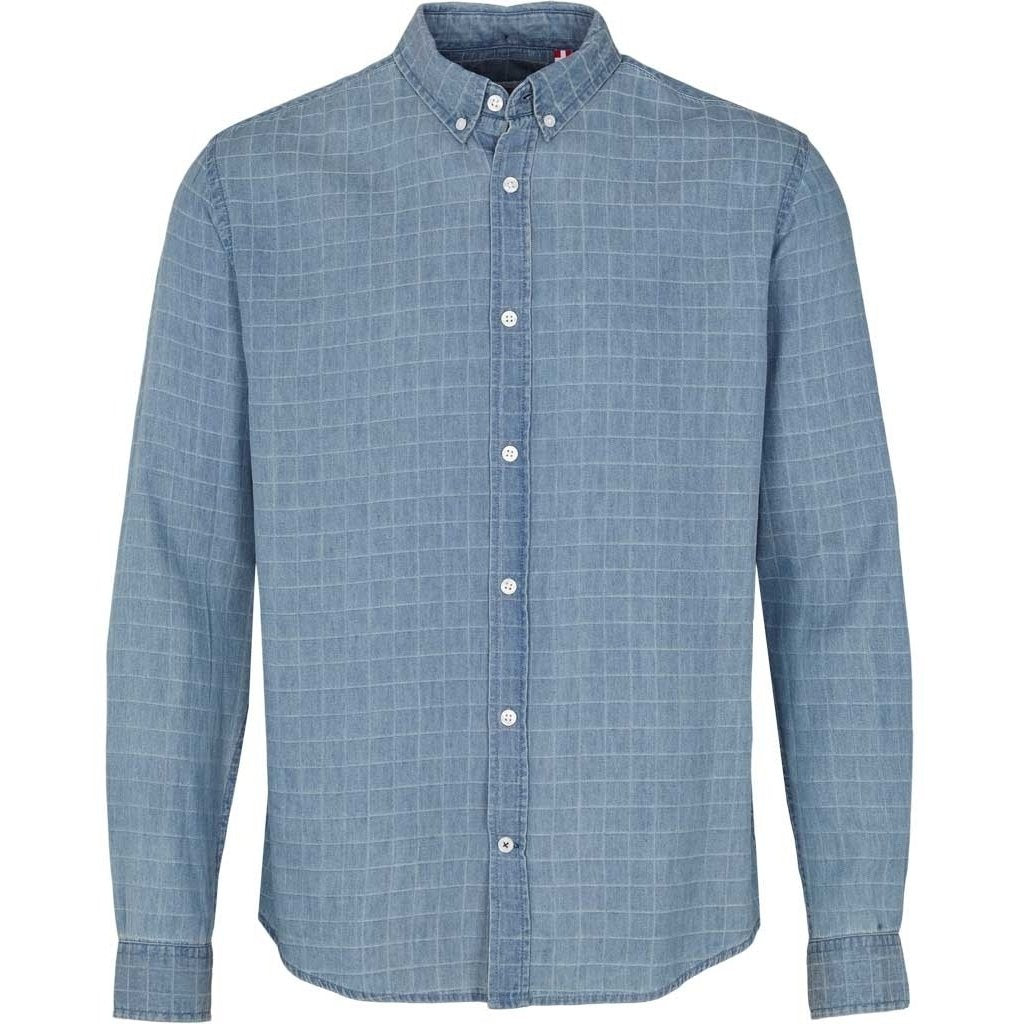 KRONSTADT | JOHAN DENIM CHECK - LIGHT BLUE