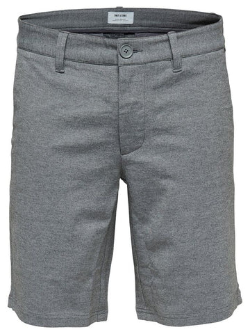 OS | MARK MELANGE SHORTS GW 3786 - MEDIUM GREY MELANGE