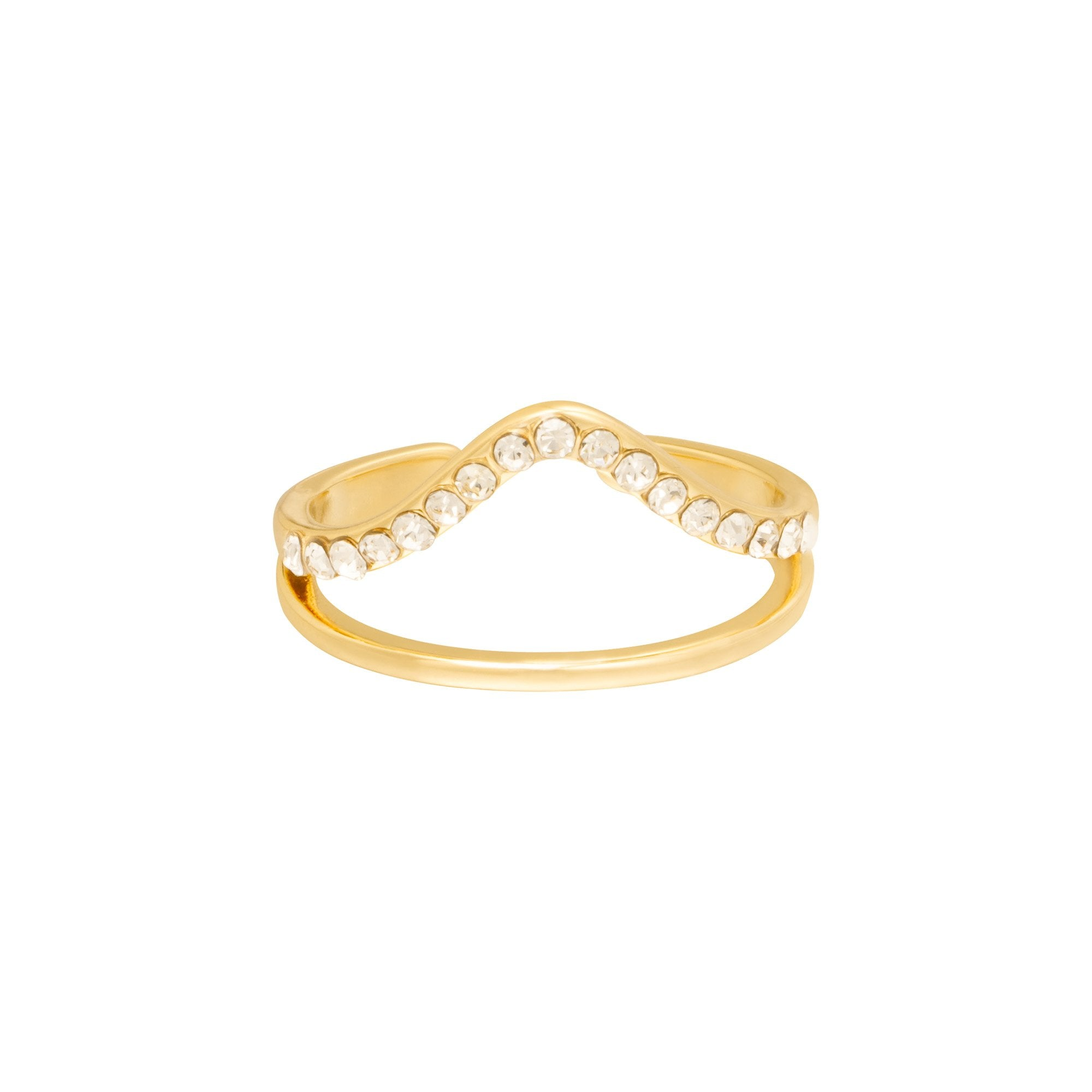 RING STRASS GOUD